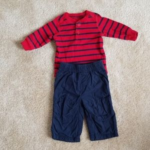 Baby Boy's Jumping Beans Outfit